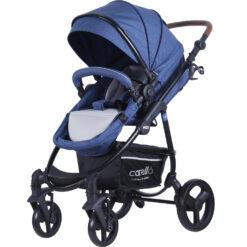 Παιδικό Καρότσι 2 σε 1 Με Περιστρεφόμενη Θέση Τσάντα και Ποδόσακο Carello M22 Jeans