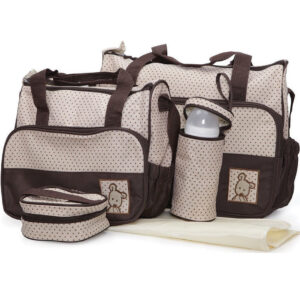 Cangaroo Σετ βρεφική τσάντα/Τσάντα αλλαξιέρα/Θερμός Stella Brown
