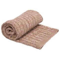 Kikkaboo Κουβέρτα Αγκαλιάς Cable Knitted 70/100 cm Melange Beige