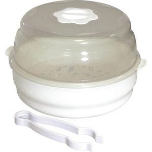 Αποστειρωτής Μικροκυμάτων για 4 Μπουκάλια Μπιμπερό Πιπίλες Θηλές Μωρών Addtronic BS 18
