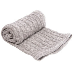 Kikkaboo Κουβέρτα Αγκαλιάς Cable Knitted 70/100 cm Melange Grey