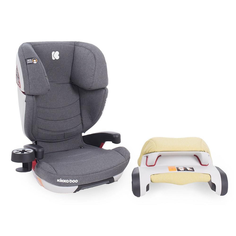 Παιδικό κάθισμα αυτοκινήτου 9-36 κιλά Ferris Light Grey Isofix Kikkaboo + Δώρα αξίας 20€