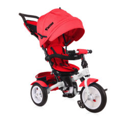 Τρίκυκλο Ποδηλατάκι Neo Air Wheels με Ανάκλιση Πλάτης και Περιστρεφόμενο Κάθισμα Red Lorelli