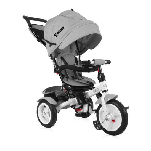 Τρίκυκλο Ποδηλατάκι Neo Air Wheels με Ανάκλιση Πλάτης και Περιστρεφόμενο Κάθισμα Grey Lorelli