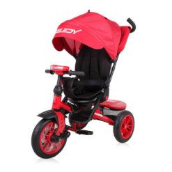 Τρίκυκλο Ποδηλατάκι Speedy με Περιστρεφόμενο Κάθισμα 360° και Φουσκωτά Λάστιχα Red Black Lorelli