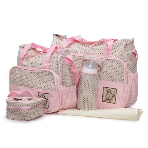 Cangaroo Σετ βρεφική τσάντα/Τσάντα αλλαξιέρα/Θερμός Stella Pink