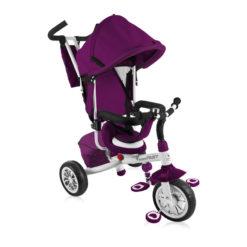 Lorelli τρίκυκλο ποδηλατάκι Fast Violet & White + Δώρο ασφάλειες πρίζας