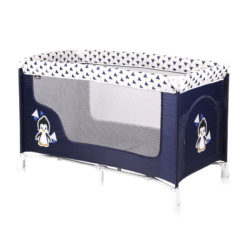 Lorelli παρκοκρέβατο san remo 1 layer Blue & White Penguin + Δώρο κουνουπιέρα