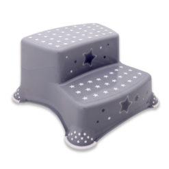 Σκαλοπάτι Βοηθητικό Μπάνιου Διπλό Grey Stars Lorelli