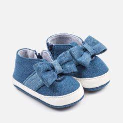 Mayoral Παπούτσια αθλητικά φιόγκος νεογέννητο κορίτσι Τζιν 29-09140-031