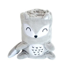 Κουβέρτα Fleece Αγκαλιάς 75x100cm 3D Fox Kikkaboo