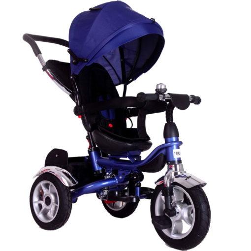 Τρίκυκλο πτυσσόμενο ποδηλατάκι Triplex 4 σε 1 Περιστρεφόμενο 360° Blue Dovadi