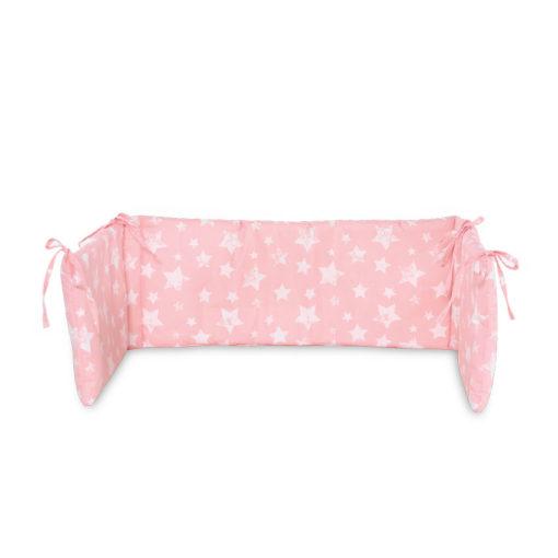Πάντα προστατευτική κρεβατιού Round Lorelli Little Stars Pink
