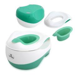 Γιο Γιο-Κάθισμα τουαλέτας-Σκαλοπάτι 3 σε 1 Lorelli set WC Transform Green