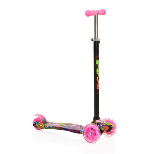 Πατίνι Scooter Rapture με Φωτιζόμενες Ρόδες Pink Byox Cangaroo
