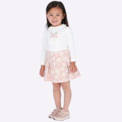 Σετ φούστα και μπλούζα κορίτσι Χρώμα: Δέρματος