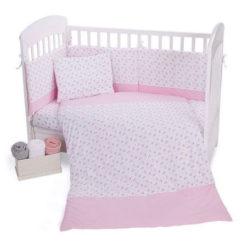 Προίκα Μωρού Περιλαμβάνει 5 τεμάχια Kikkaboo Pink Flowers 70/140