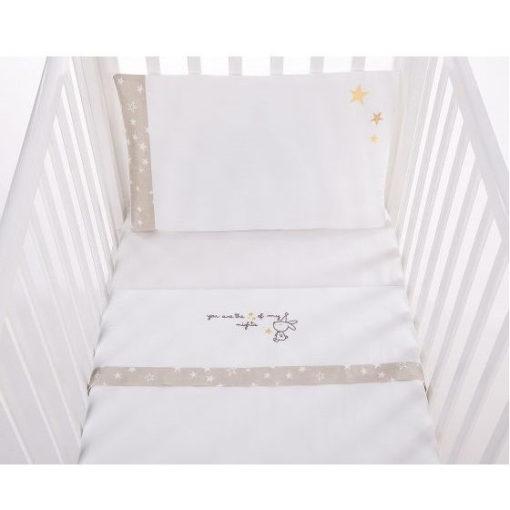 Σετ σεντόνια Bedding set 3 τεμάχια 70/140 εκατοστά embroidery Little Dreamer Stars Kikkaboo