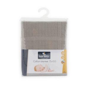 Lorelli 100 % Βαμβακερή Κουβερτούλα 75x100 εκατοστά Cotton Blanket Grey