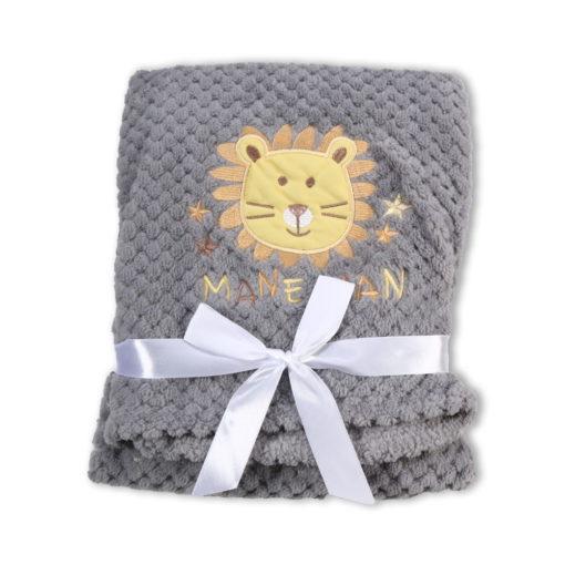 Κουβέρτα Fleece Αγκαλιάς 80 x 110cm Freya Grey Cangaroo 380014623966