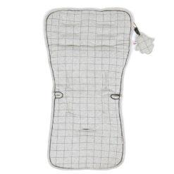 Minene Κάλυμμα Καροτσιού 100% βαμβακερό Διπλή όψη Gray Melange Πλέγμα