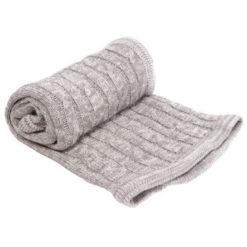 Κουβέρτα Πλεκτή Βαμβακερή 70x100cm Melange Gray Kikkaboo 31103010012