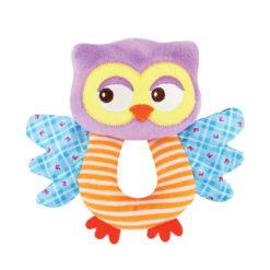 Κουδουνίστρα λούτρινη Handy Rattle Owl Lorelli 10191280004