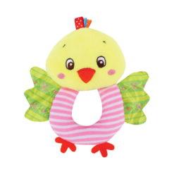 Κουδουνίστρα λούτρινη Handy Rattle Chicken Lorelli 10191280005