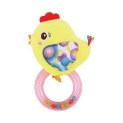 Κουδουνίστρα με κρίκο Rattle with Ring Chicken Lorelli 10191290004