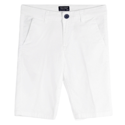 Mayoral Παντελόνι κοντό καπαρτινέ λοξοτσέπο αγόρι Χρώμα Λευκό