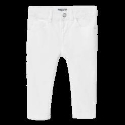 Mayoral Παντελόνι καπαρτινε slim fit Χρώμα λευκο