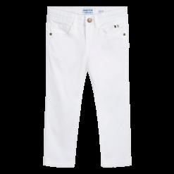 Mayoral Παντελόνι μακρύ τζιν βασικό slim fit Χρώμα Λευκό