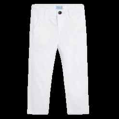 Mayoral Παντελόνι μακρύ λοξότσεπο slim fit Χρώμα Λευκό