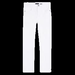 Mayoral Παντελόνι μακρύ βασικό slim fit αγόρι Χρώμα Λευκό