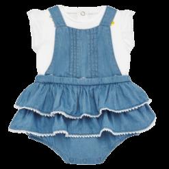 Mayoral Σετ μπλούζα και φούστα σαλοπέτα Νεογέννητο κορίτσι Χρώμα Τζιν ανοιχτό