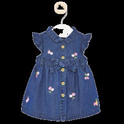 Mayoral Φόρεμα τζιν κεντητό Νεογέννητο κορίτσι Χρώμα Τζιν