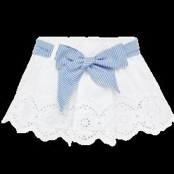 Mayoral Φούστα λεπτομέρειες διάτρητες baby κορίτσι Χρώμα Λευκό