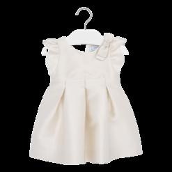 Mayoral Φόρεμα με ζακάρ φιόγκος baby κορίτσι Χρώμα Εκρού