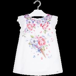 Mayoral Φόρεμα σατέν γάζα κορίτσι Χρώμα Malvarrosa