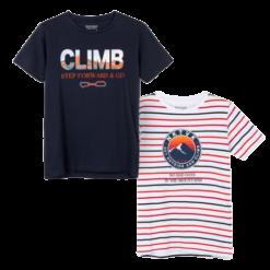 Mayoral Σετ μπλούζες κοντομάνικες σχέδιο αγόρι Χρώμα Ωκεανός