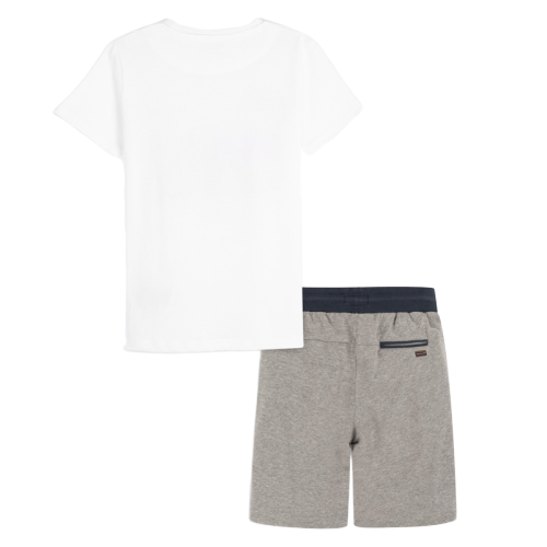 Mayoral Σετ μπλούζα σχέδιο και βερμούδα αγόρι Χρώμα Μπεζ σκούρο