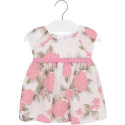 Mayoral Φόρεμα λουλούδια φιόγκος baby κορίτσι Χρώμα Ροζέ