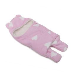 Βρεφικός σάκος εξόδου-υπνόσακος Cosy Fleece Pink Cangaroo 3800146260507
