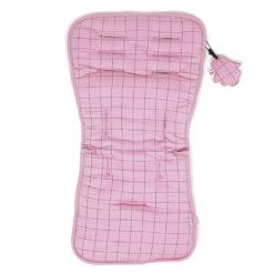 Minene Κάλυμμα Καροτσιού 100% βαμβακερό Διπλή όψη Dark Pink Πλέγμα