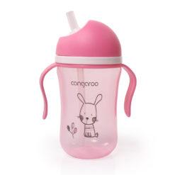 Εκπαιδευτικό Ποτηράκι 6m+ 300ml Bunny Pink C0587 Cangaroo 3800146263423