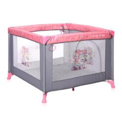 Πάρκο Τετράγωνο Game Zone Με Χειρολαβές Pink Travelling Lorelli + Δώρο Κουνουπιέρα Παρκοκρέβατου