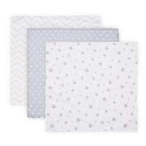 Βρεφικό Σετ 3 τεμάχια πάνες μουσελίνας Lorelli muslin blanket 80x80 εκατοστά Grey