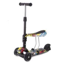 Πατίνι Scooter Ride and Skate 3in1 Τρίτροχο με Κάθισμα και Φωτιζόμενες Ρόδες Train Kikkaboo 31006010023
