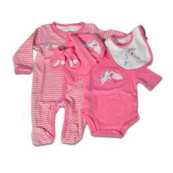 Σετ 5 τεμαχίων για νεογέννητο Newborn The one Girl Cangaroo