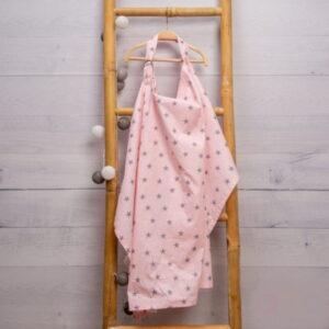 Κάλυμμα Θηλασμού Ροζ με αστεράκια Abo